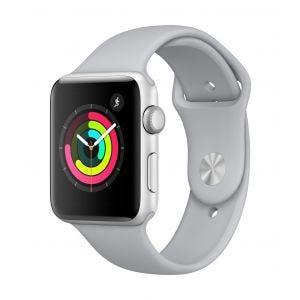 Apple Watch Series 3 GPS 42 mm - sølv med tåkegrå Sport Band