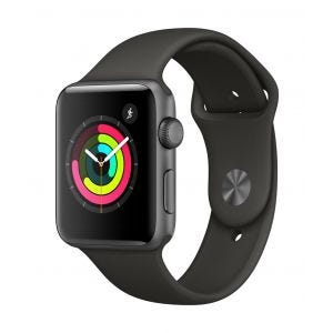 Apple Watch Series 3 GPS 42 mm - stellargrå med grå Sport Band