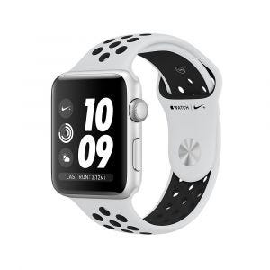 Apple Watch Series 3 GPS 42 mm Nike+ - sølv med platina/svart Nike Sport Band