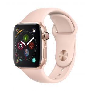 Apple Watch Series 4 GPS 40 mm - gull med sandrosa Sport Band
