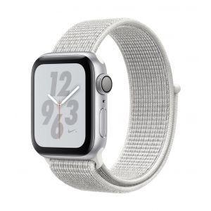 Apple Watch Series 4 Nike+ GPS 40 mm - sølv med Summit-hvit Nike Sport Loop