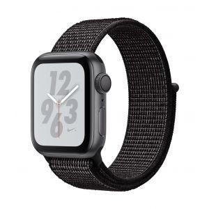 Apple Watch Series 4 Nike+ GPS 40 mm - stellargrå med svart Nike Sport Loop