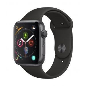 Apple Watch Series 4 GPS 44 mm - stellargrå med svart Sport Band
