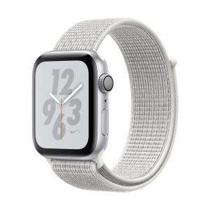 Apple Watch Series 4 Nike+ GPS 44 mm - sølv med Summit-hvit Nike Sport Loop