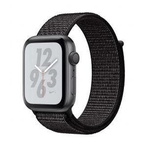 Apple Watch Series 4 Nike+ GPS 44 mm - stellargrå med svart Nike Sport Loop