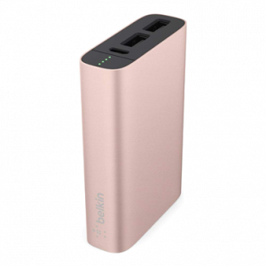 Belkin MIXIT↑ Metallic 6600mAh strømbank - rosegull