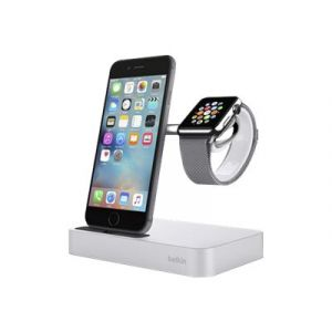 Belkin Valet Dock for iPhone og Watch i sølv
