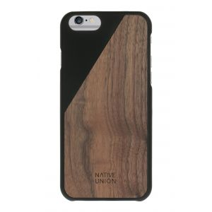 Native Union iPhone 6s Plus Clic Wooden-deksel i svart med valnøttre