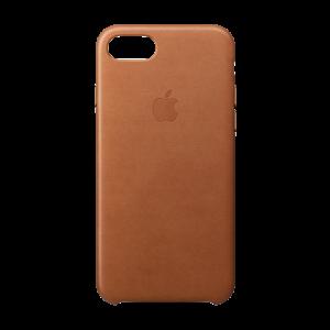 Apple skinndeksel for iPhone 8/7 - lærbrun