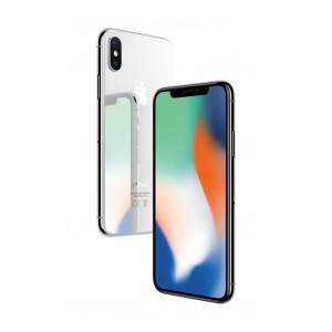 iPhone X 64 GB - sølv