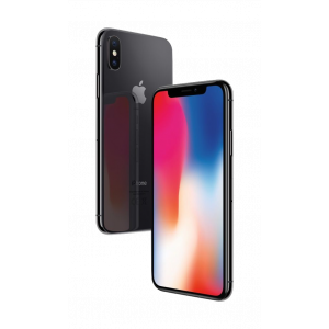 iPhone X 256 GB - stellargrå