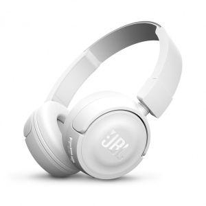 JBL T450BT trådløse on-ear hodetelefoner - hvit