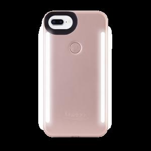 LuMee Duo selfie-deksel til iPhone 8 Plus/7 Plus - matt rosa