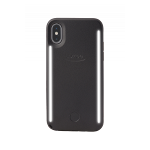 LuMee Duo selfie-deksel til iPhone XS - matt svart