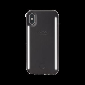 LuMee Duo selfie-deksel til iPhone X - matt svart