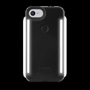 LuMee Duo selfie-deksel til iPhone 8/7 - matt svart