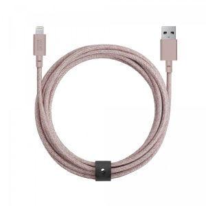 Native Union Lightning Belt Cable 3 m - rose