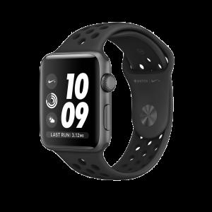 Apple Watch Series 2 42 mm Nike+ Stellargrå alu med antrasitt/svart Nike-sportsband