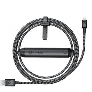 Nomad Ultrarobust Lightning-kabel med strømbank 1,5m