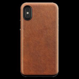 Nomad Rugged deksel i skinn til iPhone X - brun