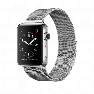 Apple Watch Series 2 42 mm rustfritt stål med Milanese Loop