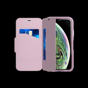 Tech21 Evo Wallet til iPhone XS - orkide