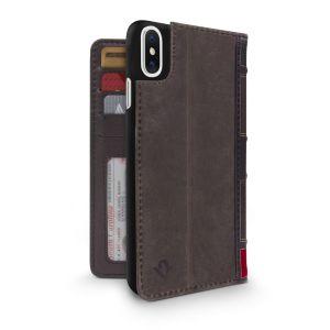 Twelve South BookBook lommeboketui til iPhone X - brun