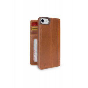 Twelve South Journal lommeboketui til iPhone 8/7 - konjakk